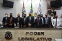 Câmara realiza posse de vereadores, prefeita e vice